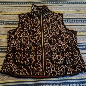 Animal print vest